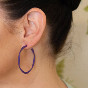 Everyday Twisted Full Hoop Earrings (10 Colours Avail)