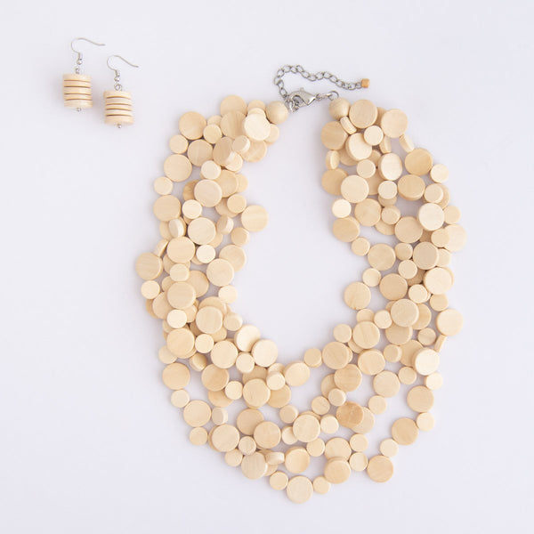 Everyday Wood Stacked Necklace