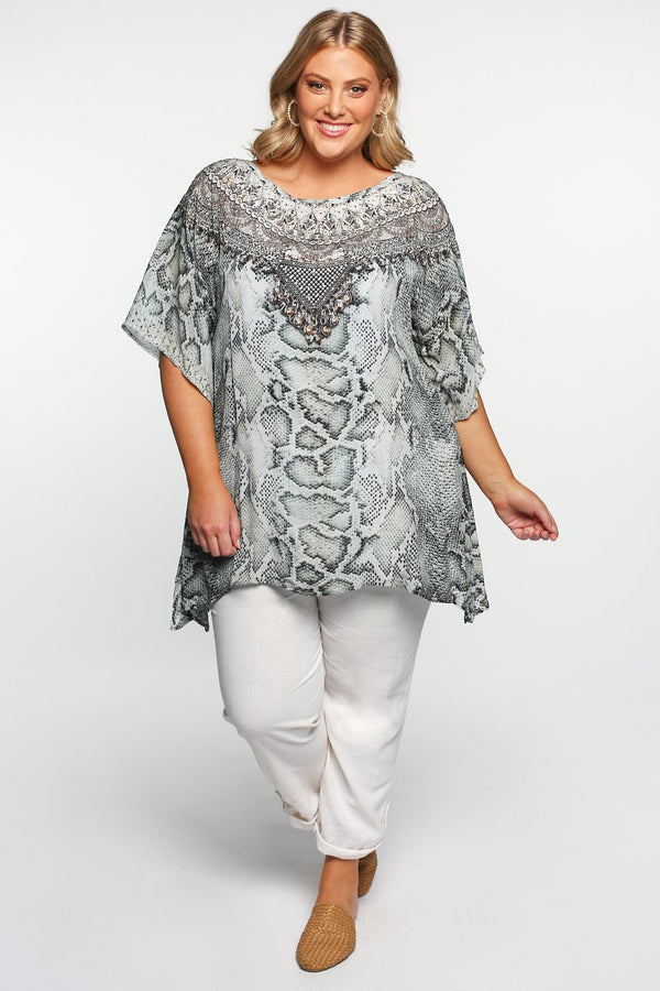 Sasha Short Kaftan in Mystic