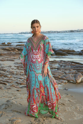 Sienna Long Kaftan in Maldives