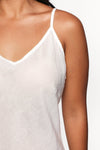 Adrift Cotton Slip in White