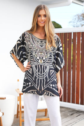 Sloane Tunic in Zebra Palace