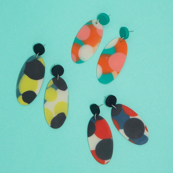 Spark Artisan Oval Earrings