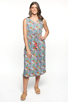 Stella Empire Line Sundress in Bird of Paradise