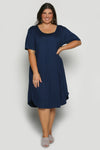 Swing Dress in Navy