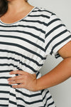 Swing Tee in French Stripe