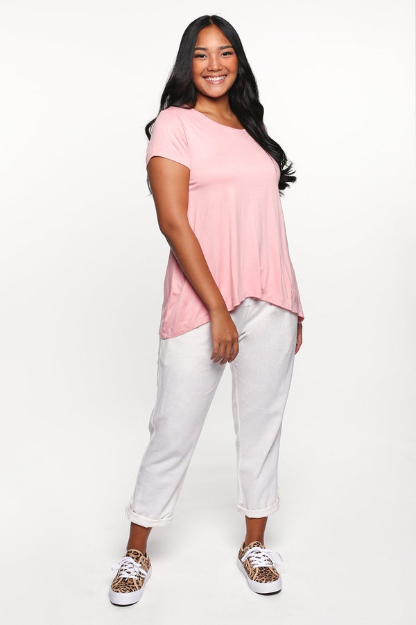 Swing Tee in Coral Pink