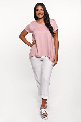 Swing Tee in Dusty Pink