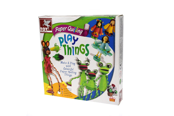 Paper quilling play things