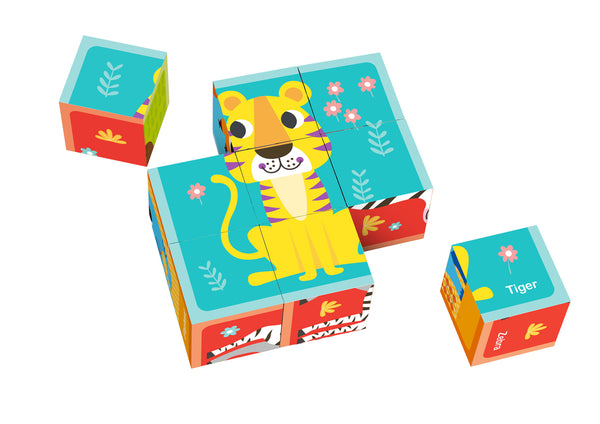 Animal Block Puzzle with Drawing Card