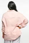 Talula Button Down Top in Blush Pink