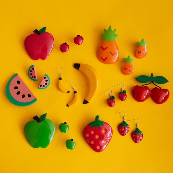 Tutti Frutti Banana Brooch + Earring Set
