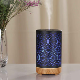 Essential Oil Aroma Diffuser 100ml Metal Art Aromatherapy Air Mist Humidifier