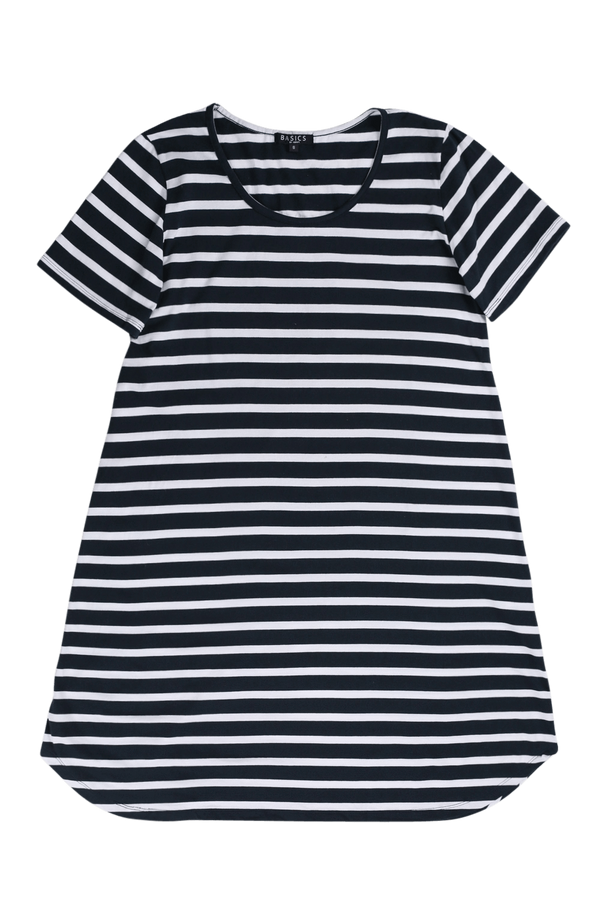 Swing Dress in Nautical Stripe