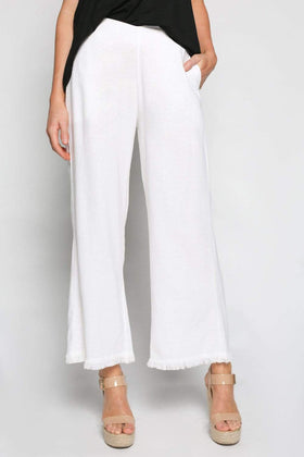 Wide Leg Pant in White