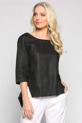 Boatneck Top in Black