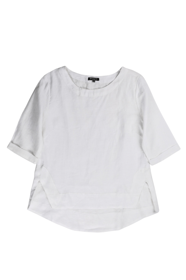 Boatneck Top in White
