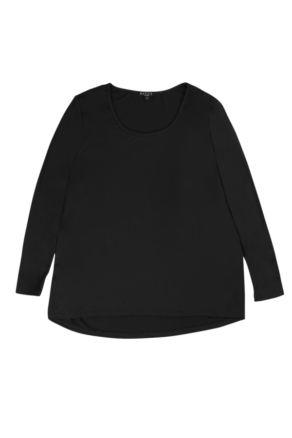 Long Sleeve Swing Tee in Black