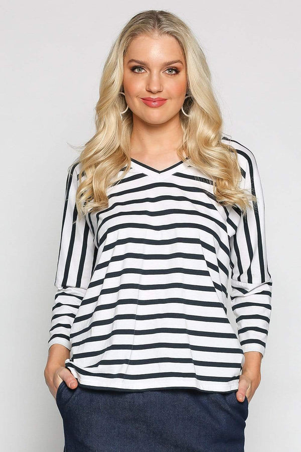 Relaxed Tee in French Stripe