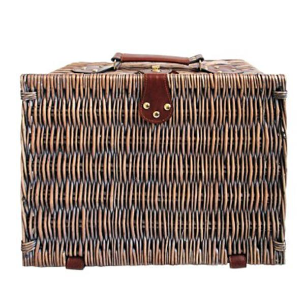 4 Person Picnic Basket Deluxe Outdoor Gift Blanket
