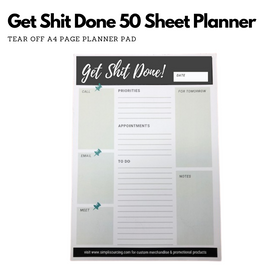 Simpli Daily Planner Get Sh!t Done