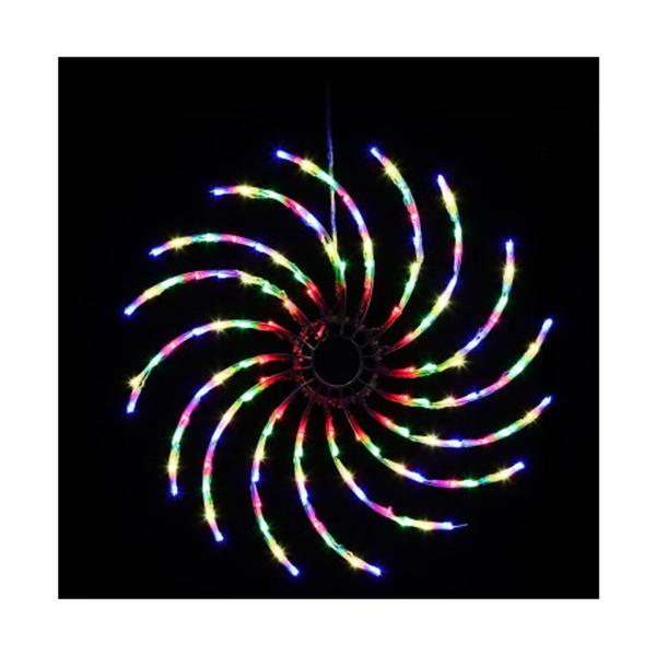 Christmas Motif Lights Led Spinner Light Waterproof Colourful