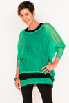 Donna Mesh Boxy Top - Emerald - One Size