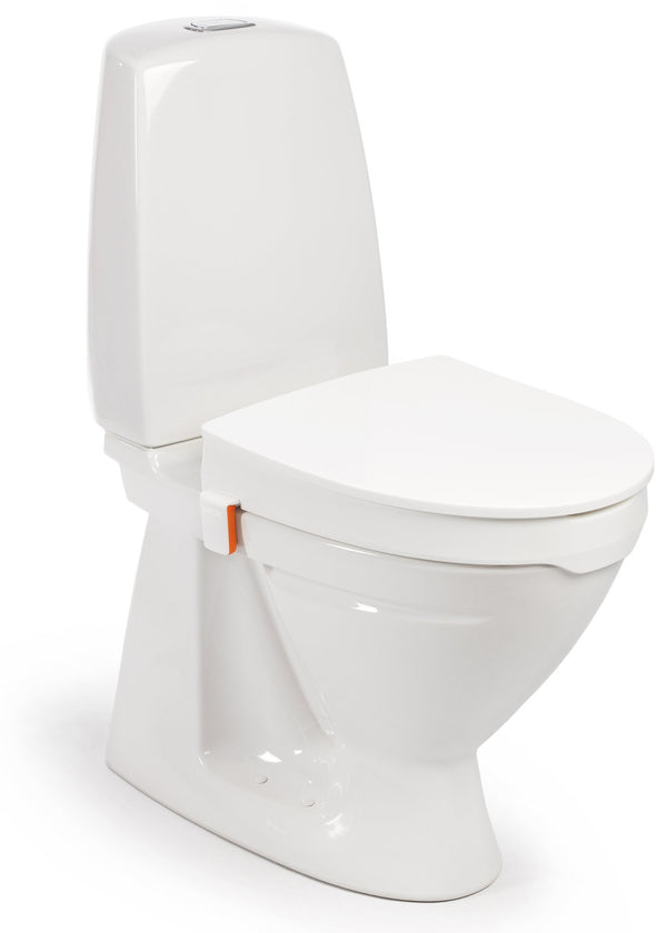 Etac My-Loo Toilet Seat Raiser with Lid and Brackets, 6cm