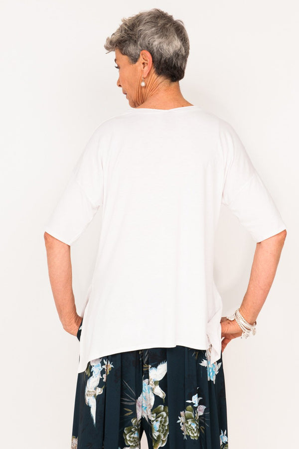 Gladys 1/2 Sleeve Tee - Lily - One Size