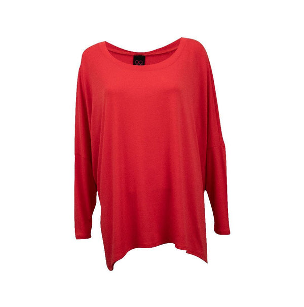Doris Viscose Boxy Top - Hibiscus - One Size