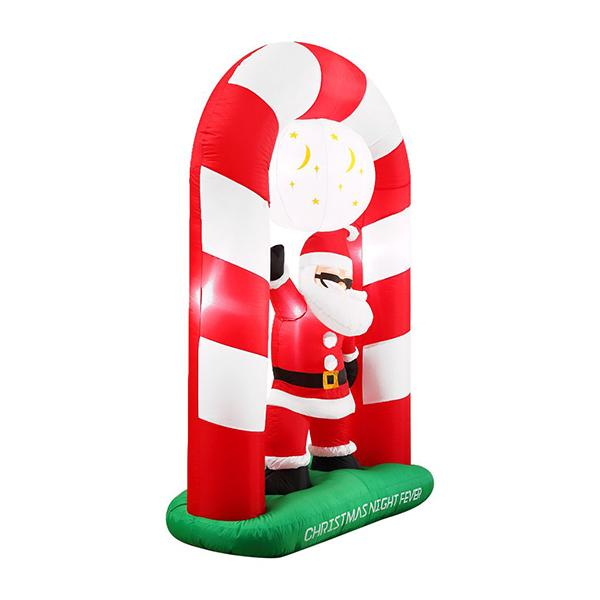 Inflatable Christmas Santa Snowman With Led Light Decoration Type 7