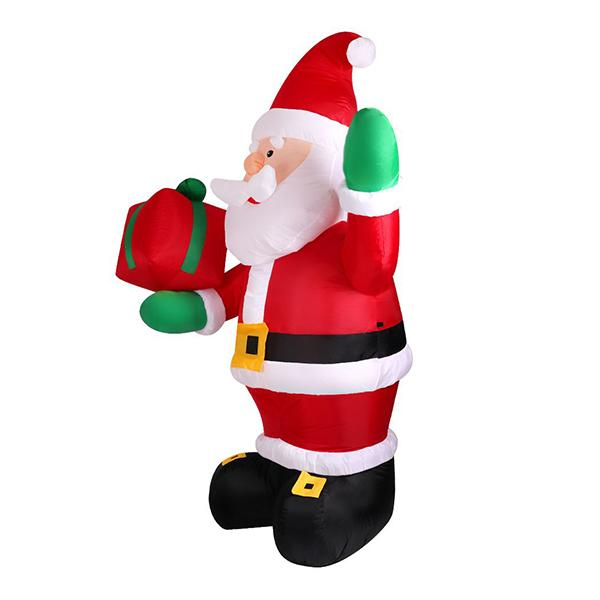 Inflatable Christmas Santa With Led Light Xmas Decoration Outdoor