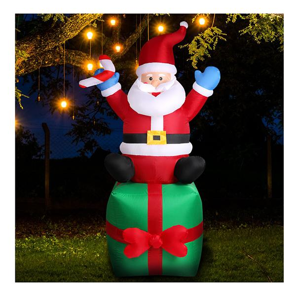 Inflatable Christmas Santa Snowman With Led Light Xmas Decoration