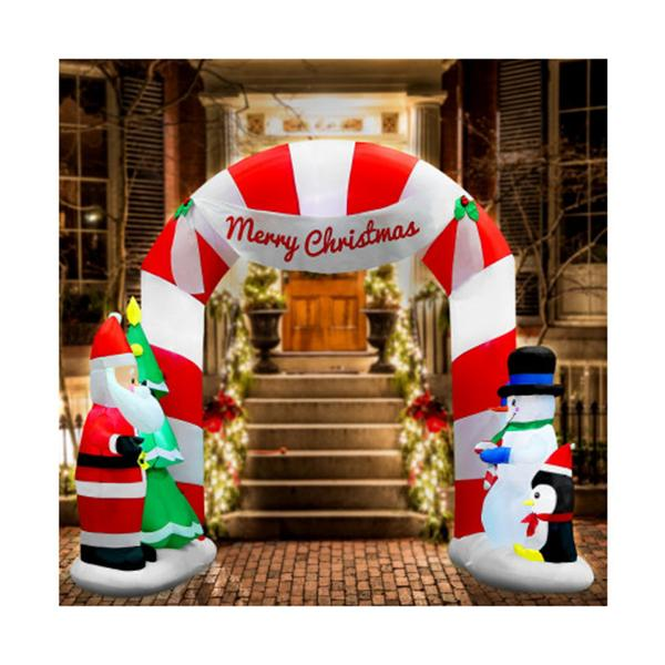 3M Christmas Inflatable Archway With Santa Xmas Decor Led