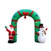 2M Christmas Inflatable Giant Arch Way Santa Snowman Light Decor