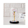 Forever Gold Leaf Rose In Glass Led Light