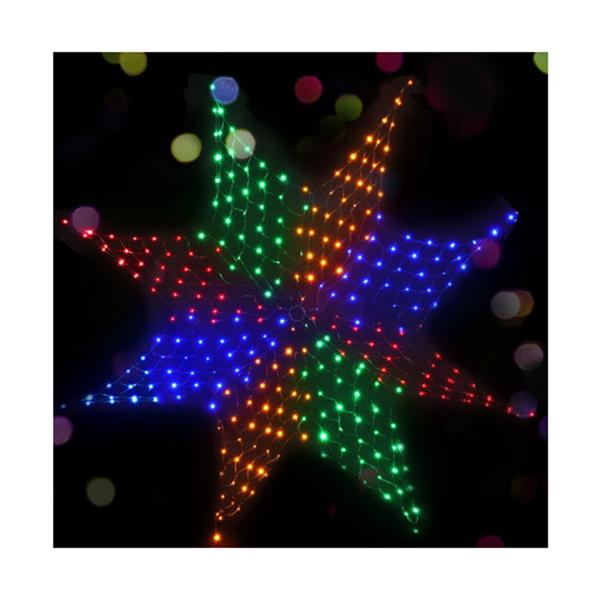 Christmas Motif Lights Led Star Net Waterproof Outdoor Colourful