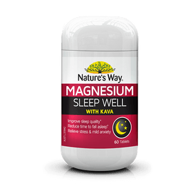 Nature's Way Magnesium Sleep Well with Kava 60 Tablets