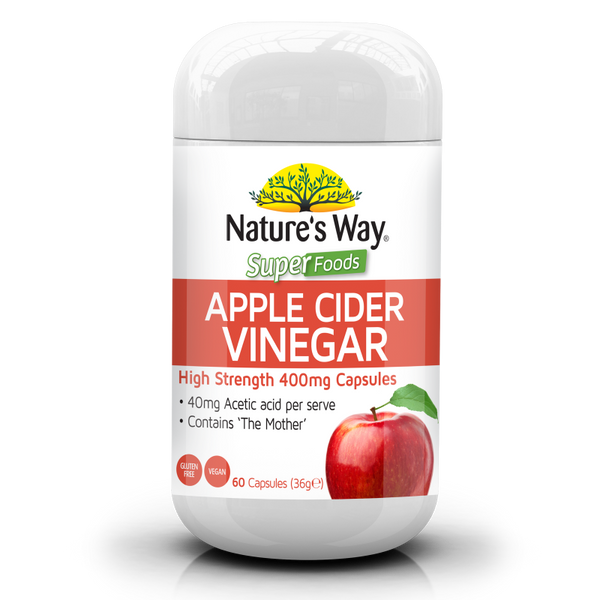 NATURE'S WAY Superfoods Apple Cider Vinegar 400mg 60s