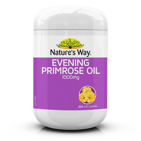 Nature's Way Evening Primrose Oil 1000mg 200 Capsules