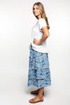 Perla Frill Skirt in Ocean Wattle
