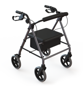 Redgum Silver Seat Walker Soft Hand Brake Action 8