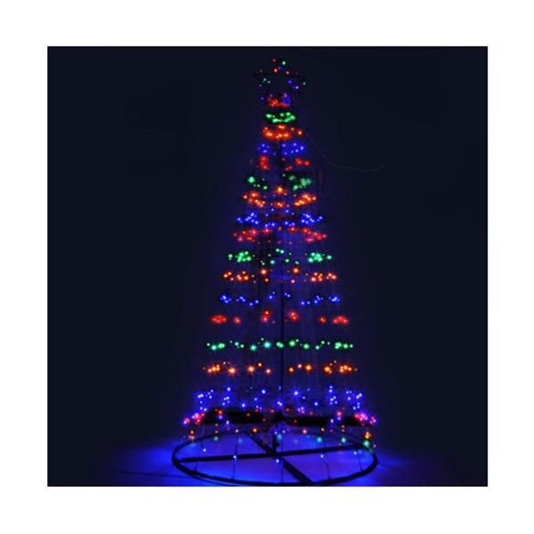 Led Christmas Tree Lights Solar Xmas Multi Colour Optic Fiber