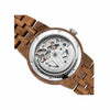 Mens Dual Wheel Automatic Walnut Wood Watch