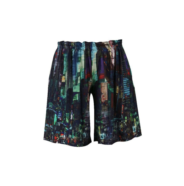 Nancy Active Shorts - Petrol City Skyline - One Size