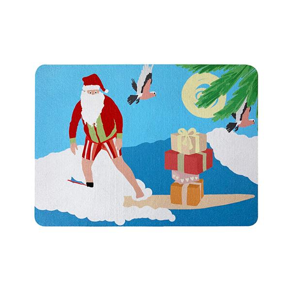 Christmas Santa Recycled Rubber Placemat Mousepad 24X34Cm
