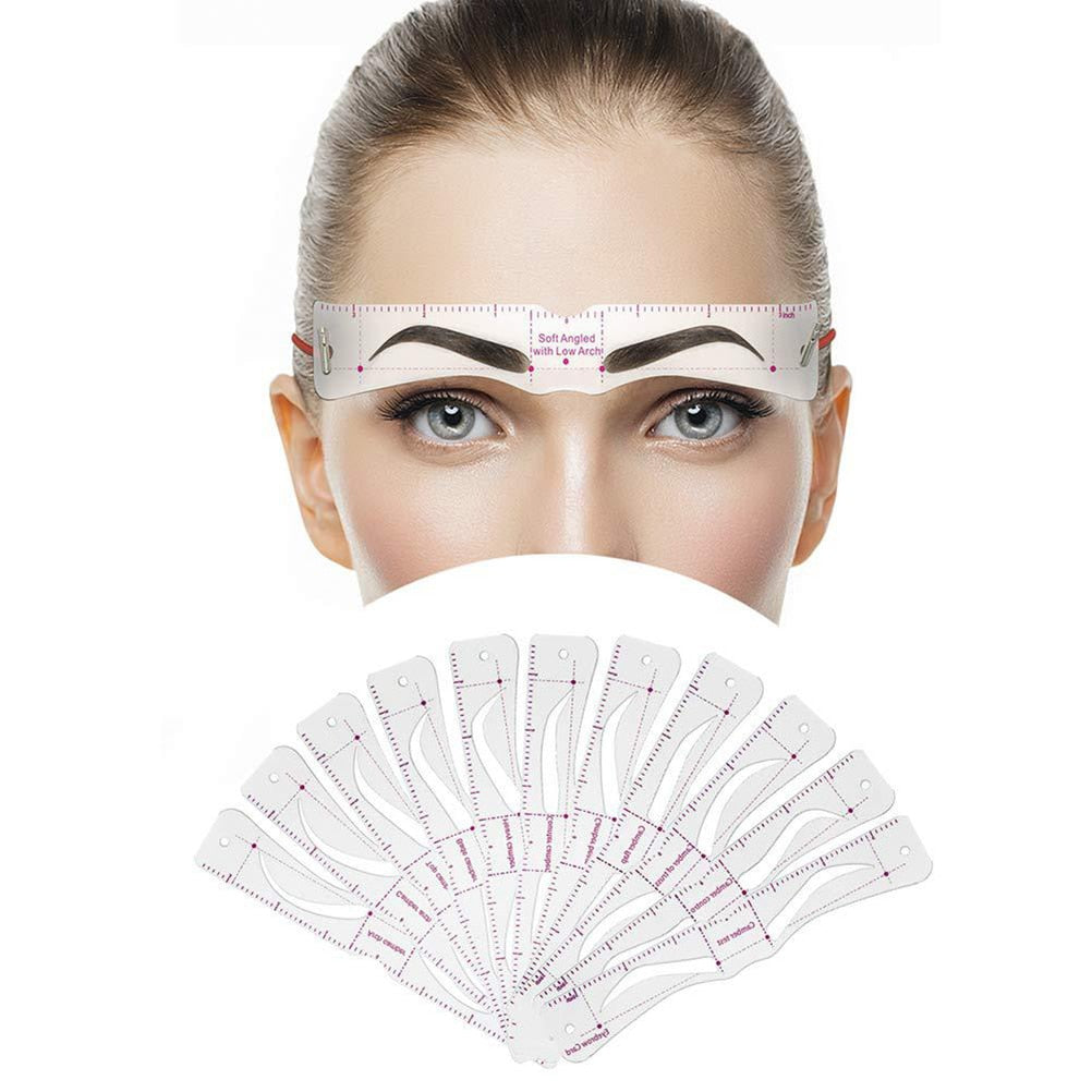 Grooming Shaping Balanced Template Eyebrow Makeup 8 In1 Magic Eye Brow Class Drawing Guide Eyebrow Stencil Card Template Helper - Hye Beauty