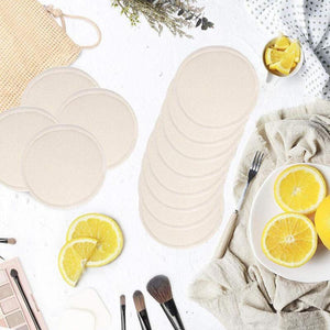 12Pcs Makeup Remover Pads Reusable Cotton Pads Make Up Facial Remover Bamboo Fiber Facial Skin Care Nursing Pads Skin Cleaning - Hyebeauty