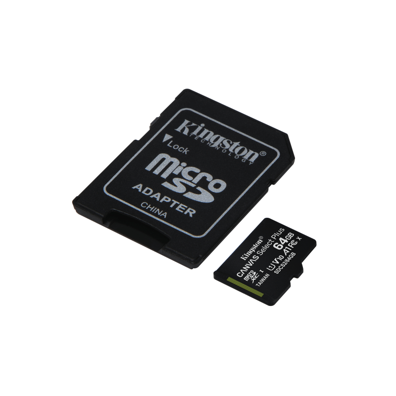 Kingston · Canvas Select Plus microSDHC inkl. adapter · 64GB
