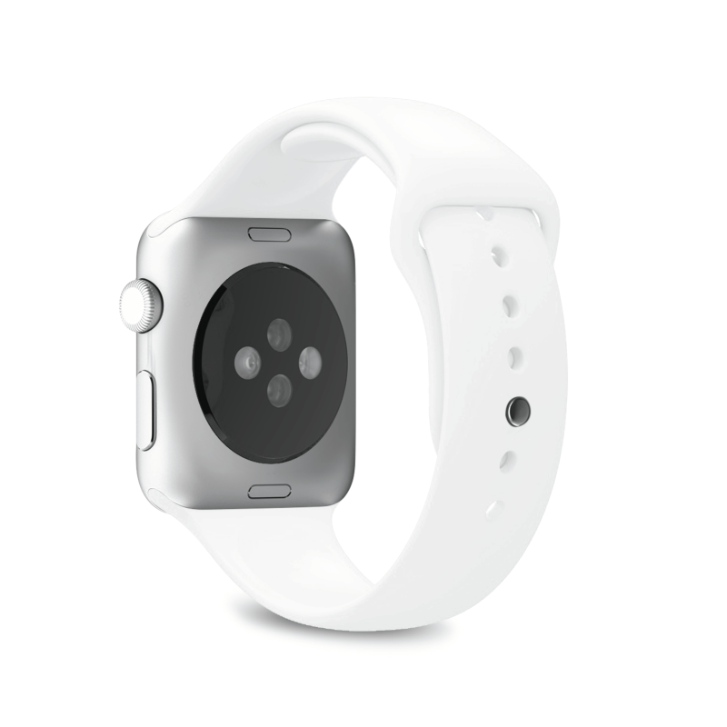 Puro · Icon Silicone Band for Apple Watch · White